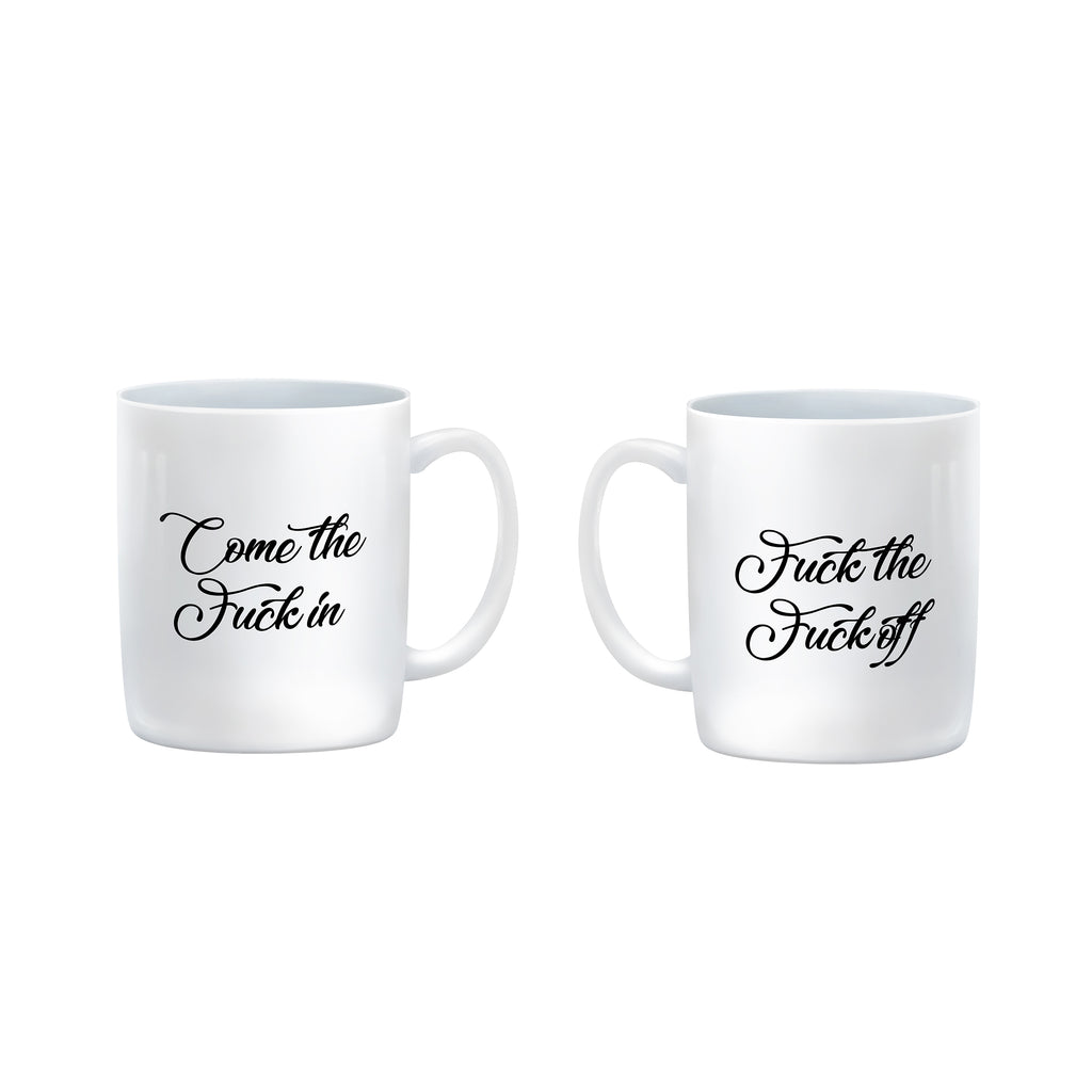 COME THE FUCK IN OR FUCK THE FUCK OFF Malcolm Tucker Mug