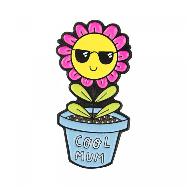 COOL MUM dancing flower OHH DEER enamel pin by Jade Walsh from LA LA LAND
