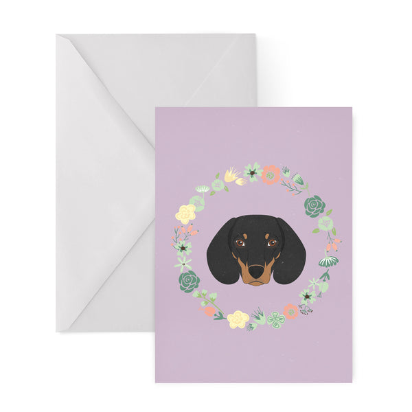 DACHSHUND sausage dog greetings card from LA LA LAND