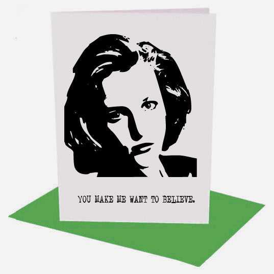 DANA SCULLY X Files inspired Greetings Card from LA LA LAND