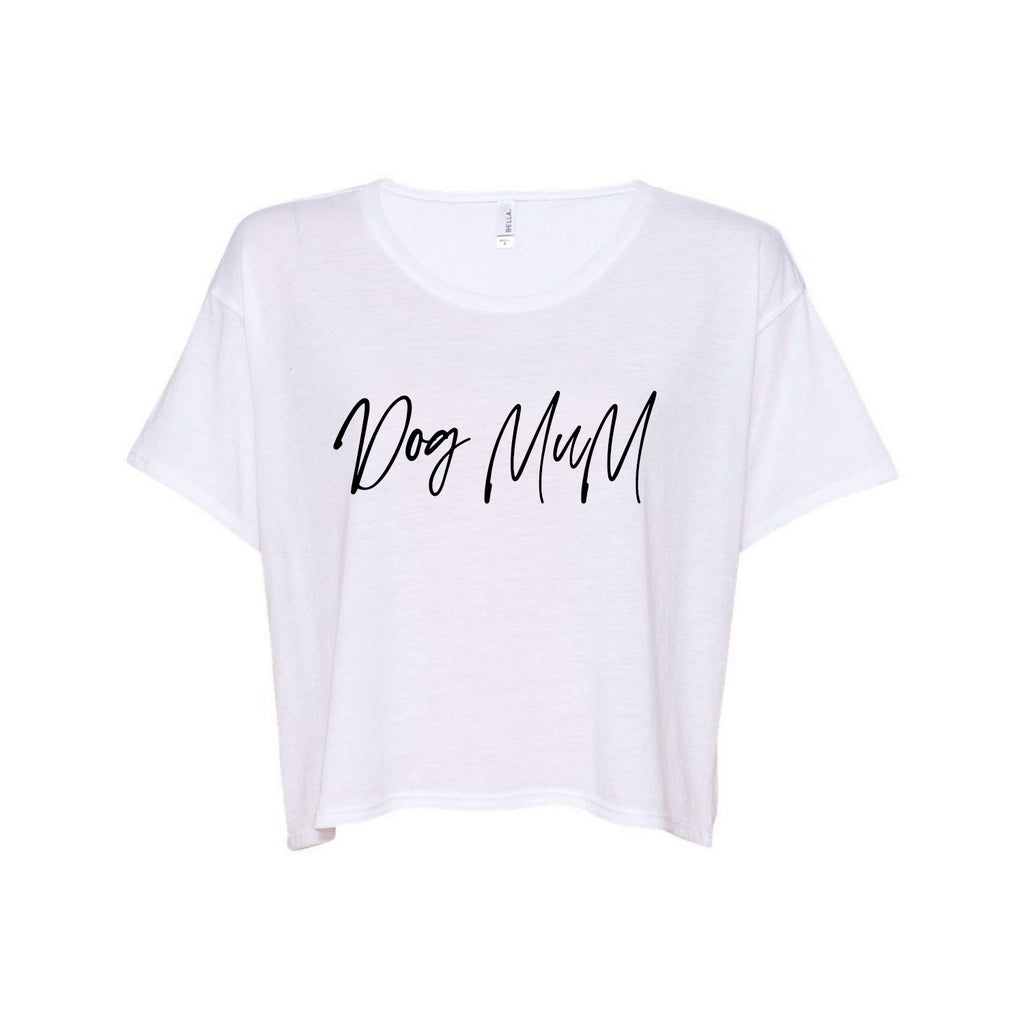 DOG MUM White Boxy Tee