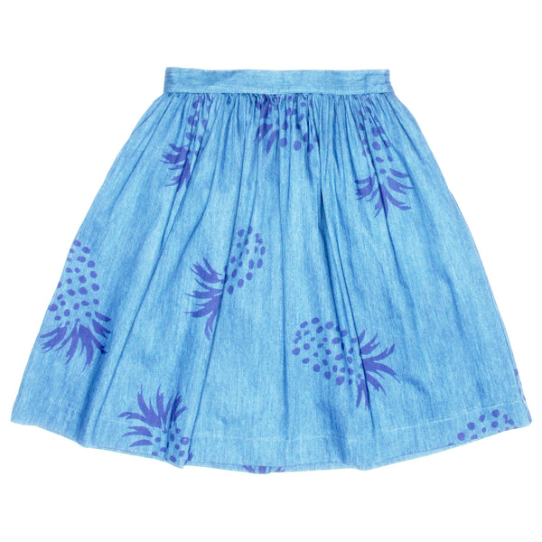 Denim skirt with pineapple print by PEPA LOVES from LA LA LAND