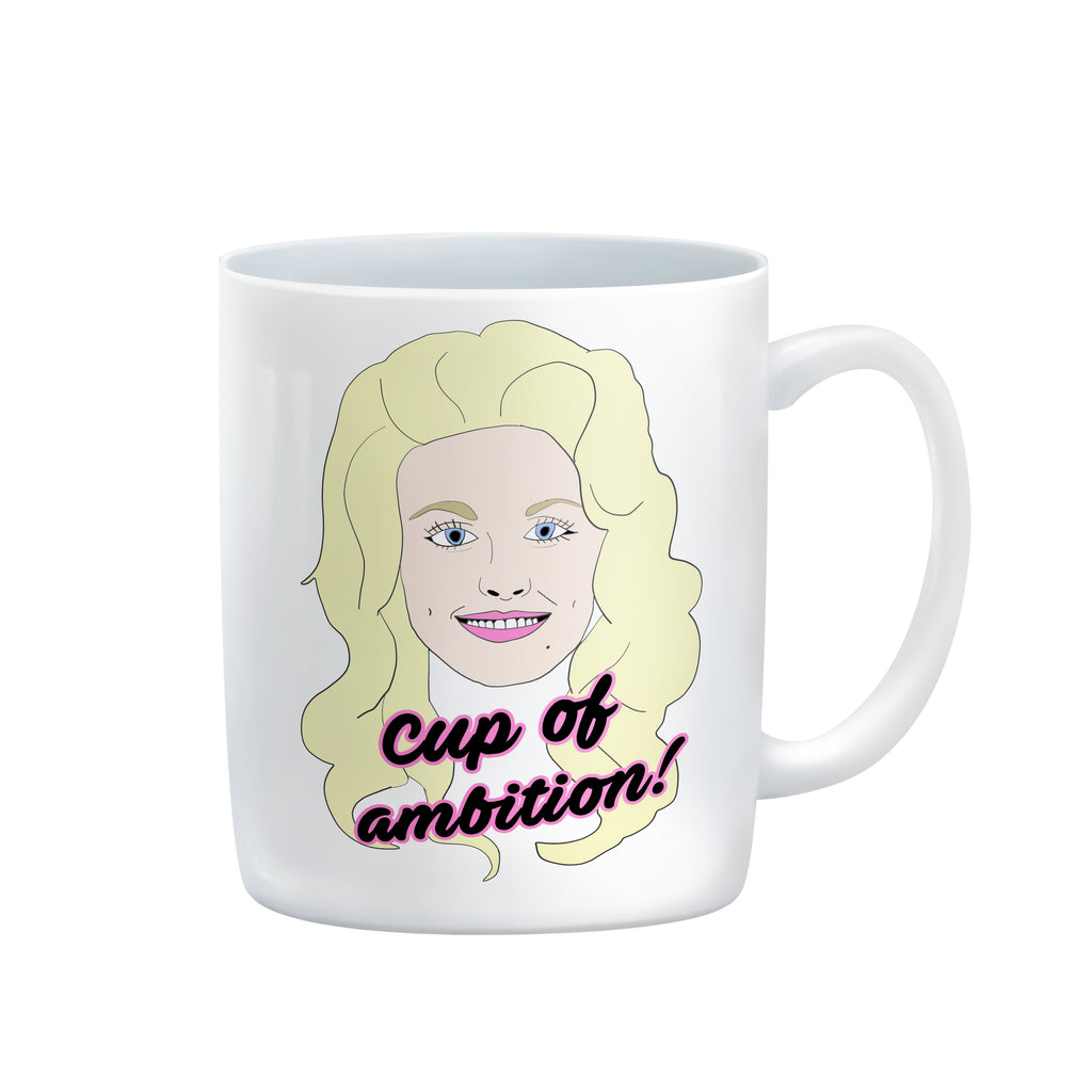 Dolly Parton CUP OF AMBITION 9 to 5 country music lyrics MUG from LA LA LAND