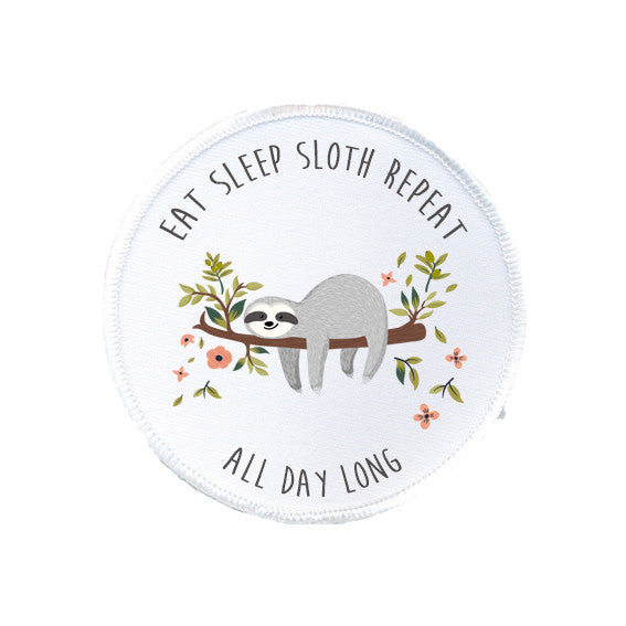 SLOTH ALL DAY LONG Patch