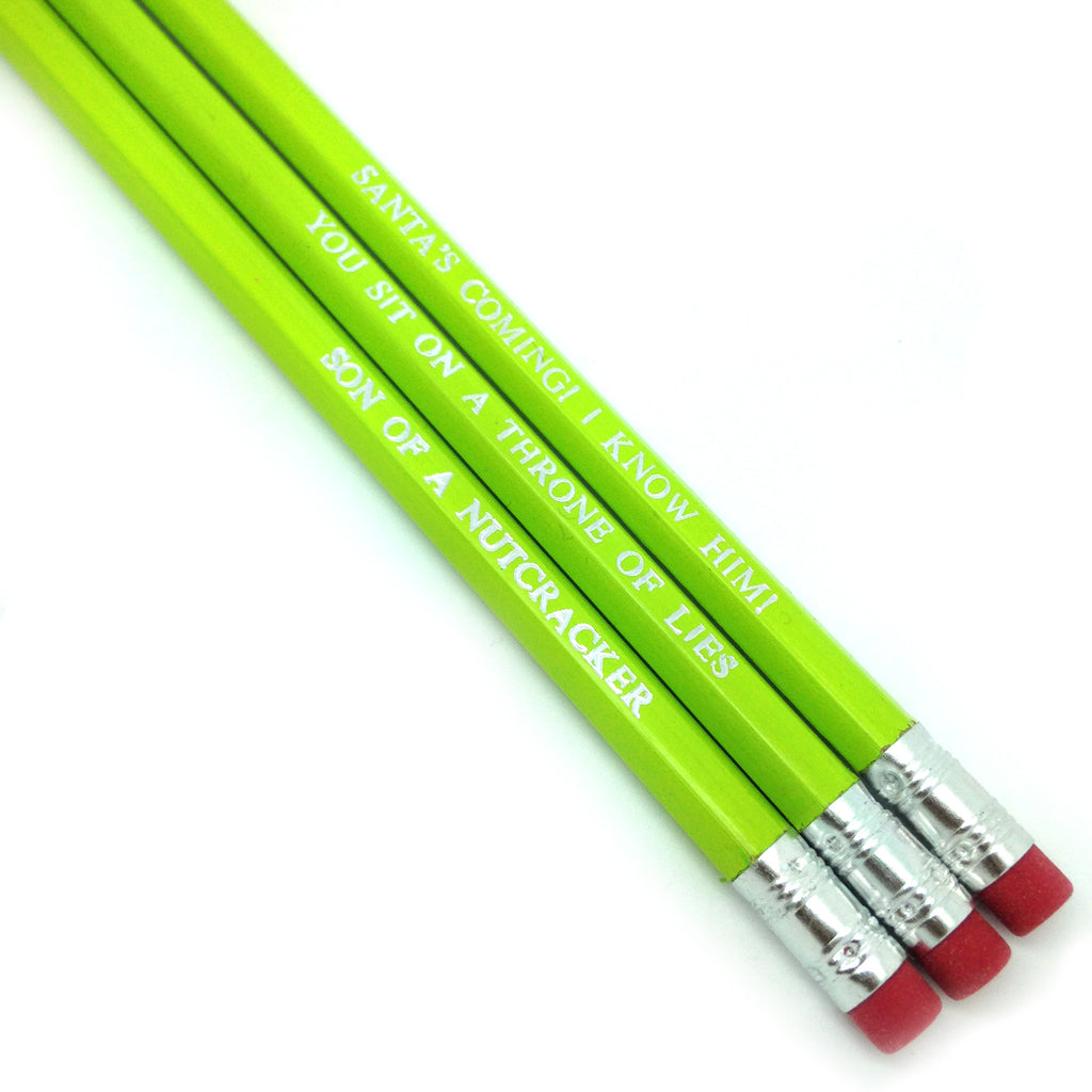 ELF Will Ferrell christmas movie hand stamped engraved quote slogan pencils by POPCULT from LA LA LAND