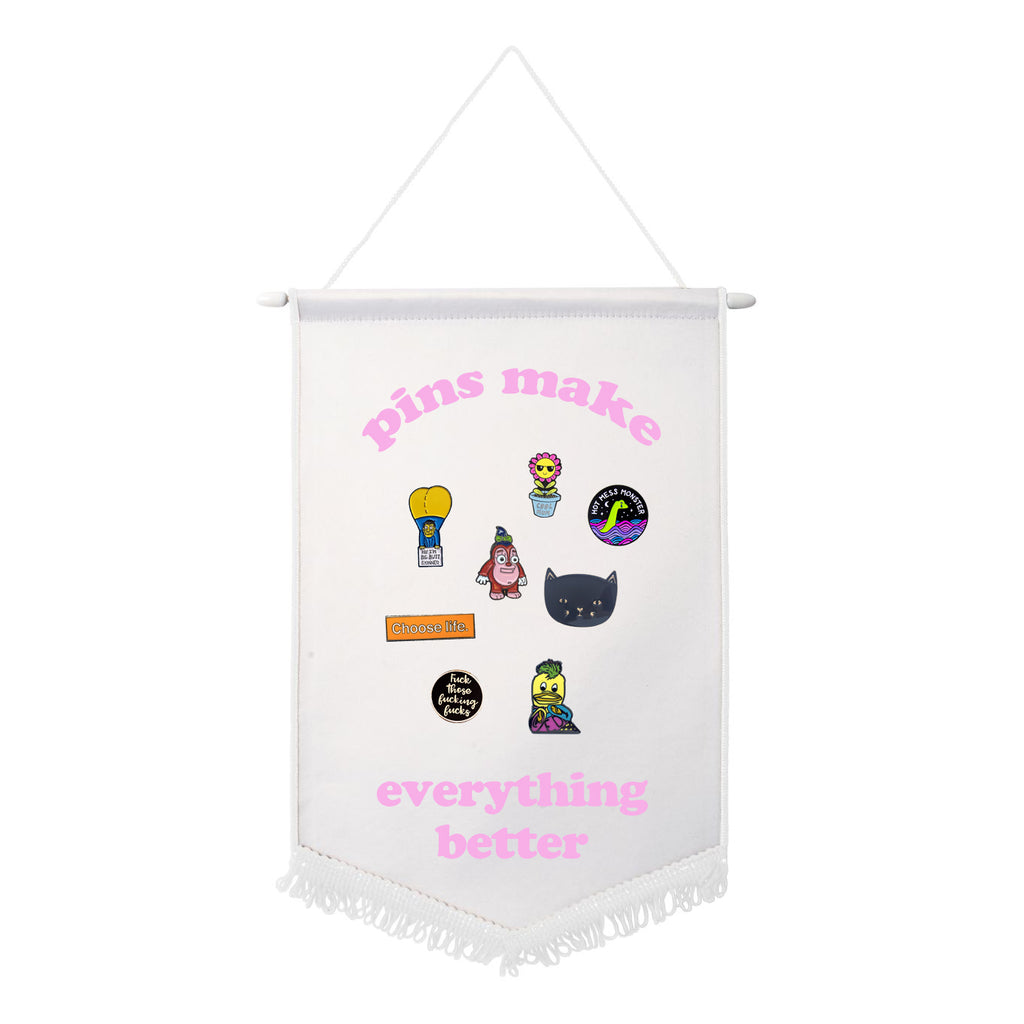 ENAMEL PIN flair flag PINS MAKE EVERYTHING BETTER from LA LA LAND with pins