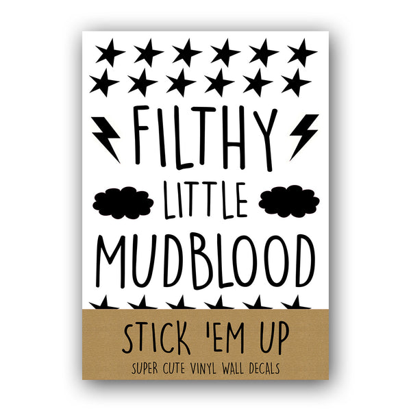 FILTHY LITTLE MUDBLOOD HARRY POTTER BLACK WALL DECALS by LA LA LAND