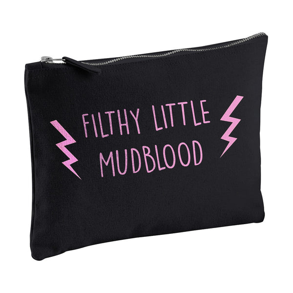 FILTHY LITTLE MUDBLOOD harry potter canvas clutch zipper pouch bag from LA LA LAND