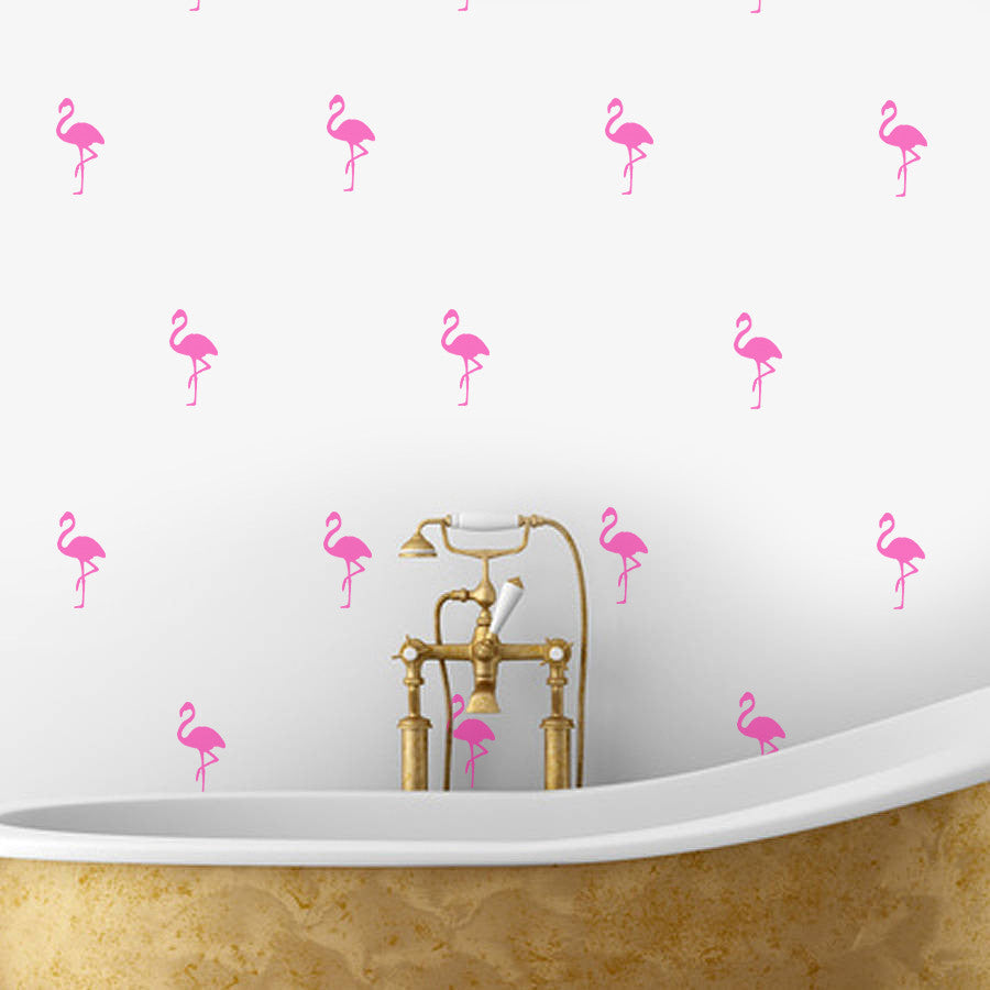 FLAMINGO PINK WALL DECALS by LA LA LAND ... & PINK FLAMINGOS Wall Decals | LA LA LAND