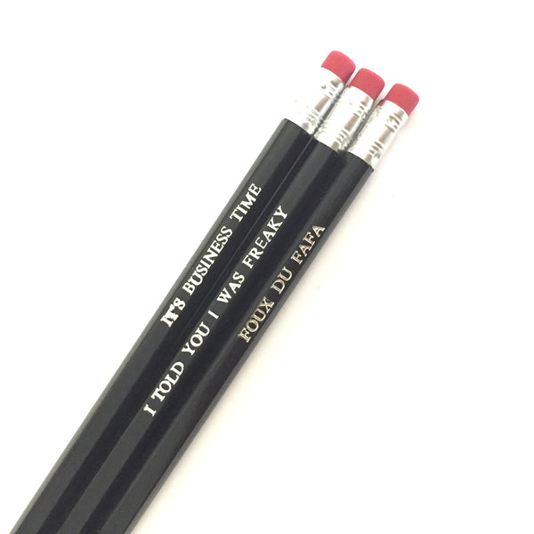 Flight of the Conchords It's Business Time Pencil Set from LA LA LAND