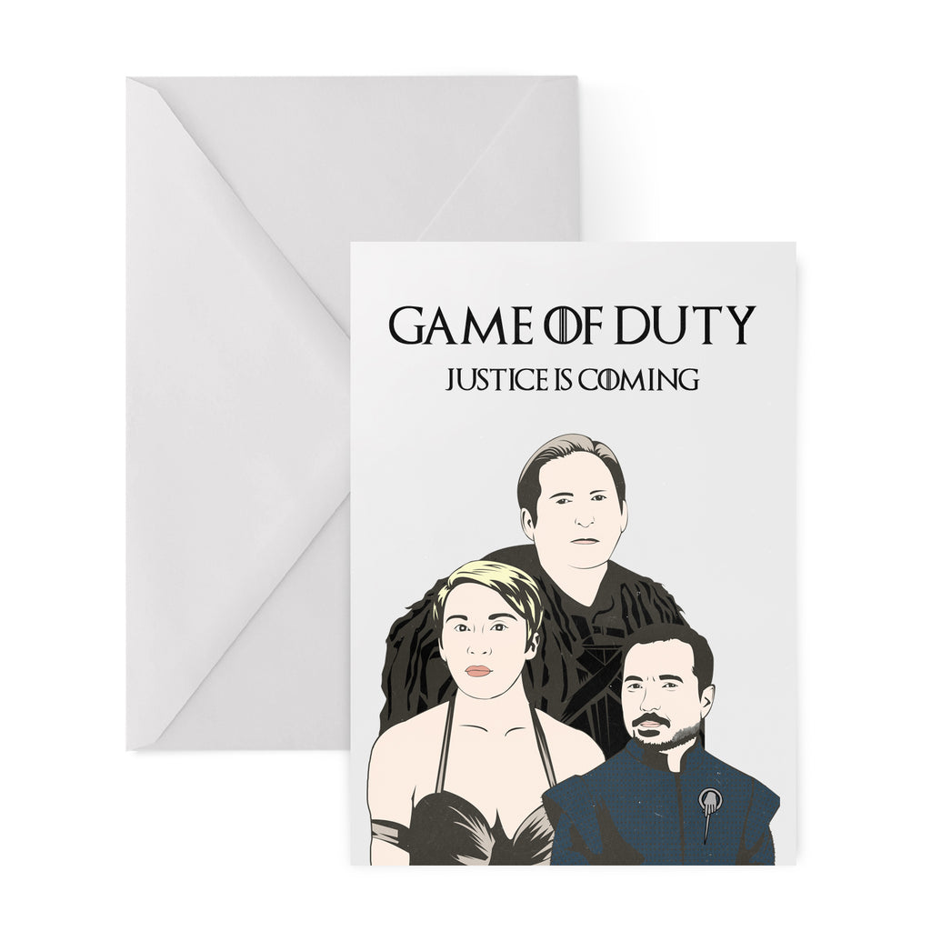 GAME OF DUTY Greetings Card