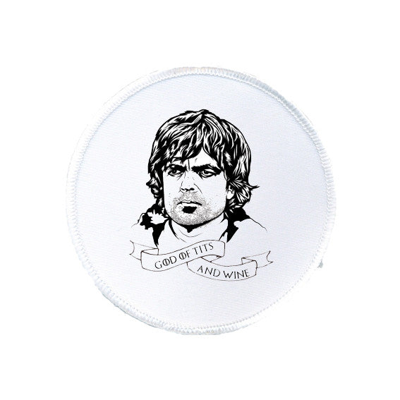 GAME OF THRONES god of tits and wine TYRION LANNISTER patch from LA LA LAND.jpg