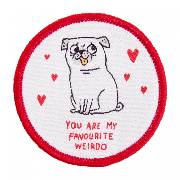 GEMMA CORRELL PUG dog puppy favourite weirdo SEW ON PATCH from LA LA LAND 2