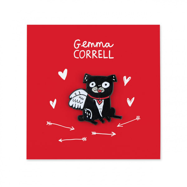 GEMMA CORRELL PUG dog puppy puggy valentine ENAMEL PIN from LA LA LAND 2
