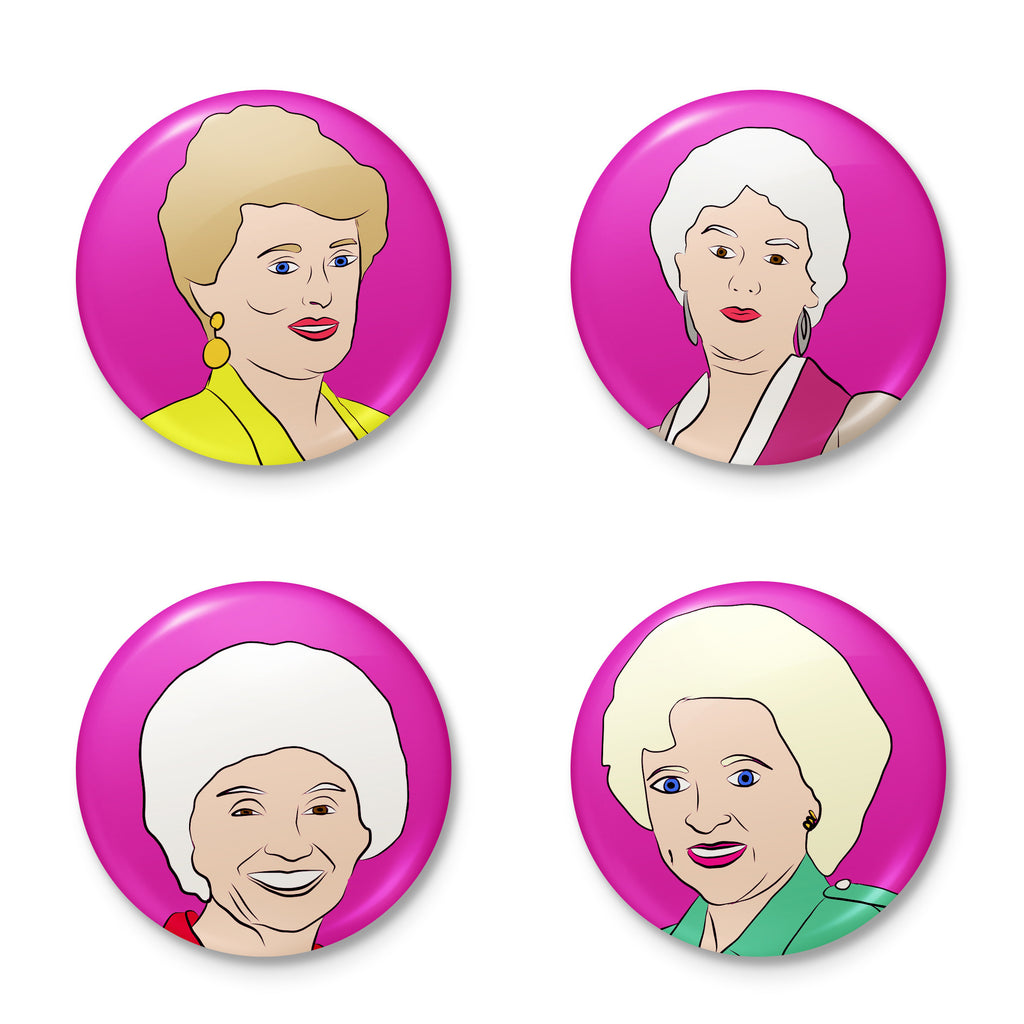 GOLDEN GIRLS button badge pack from LA LA LAND