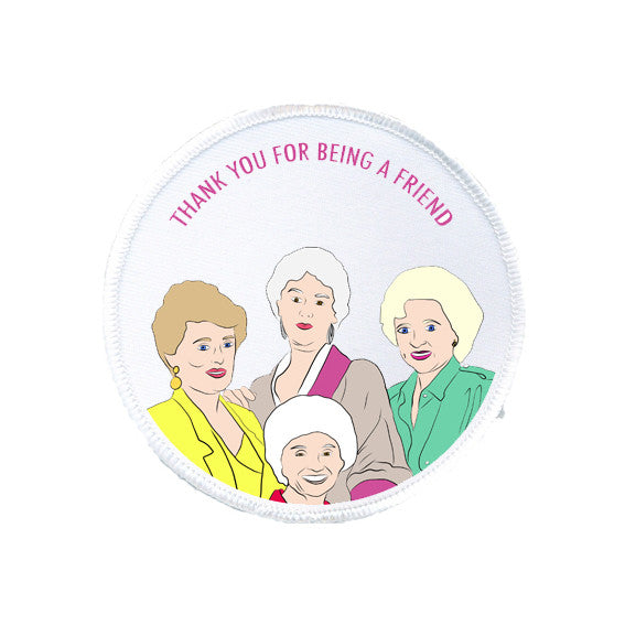 GOLDEN GIRLS thank you for being a friend printed patch from LA LA LAND