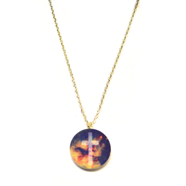 Galaxy Cross Necklace