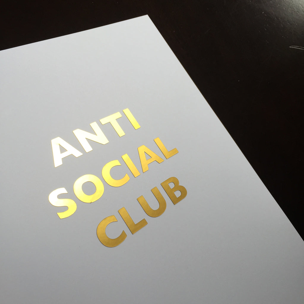 ANTI SOCIAL CLUB GOLD FOIL ART