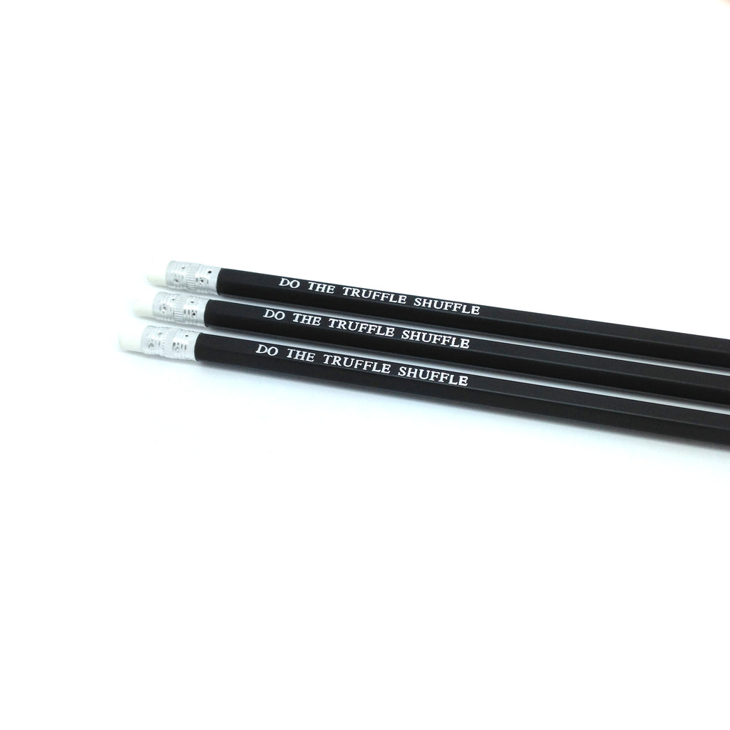Do the Truffle Shuffle Chunk Goonies Hand Stamped Slogan POPCULT Pencil Set from LA LA LAND