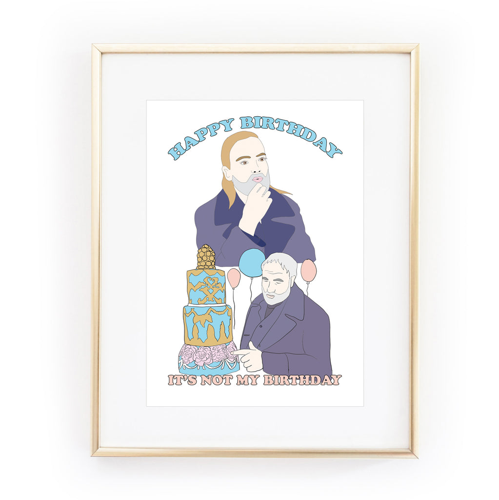KILLING EVE 'Happy Birthday' ART PRINT