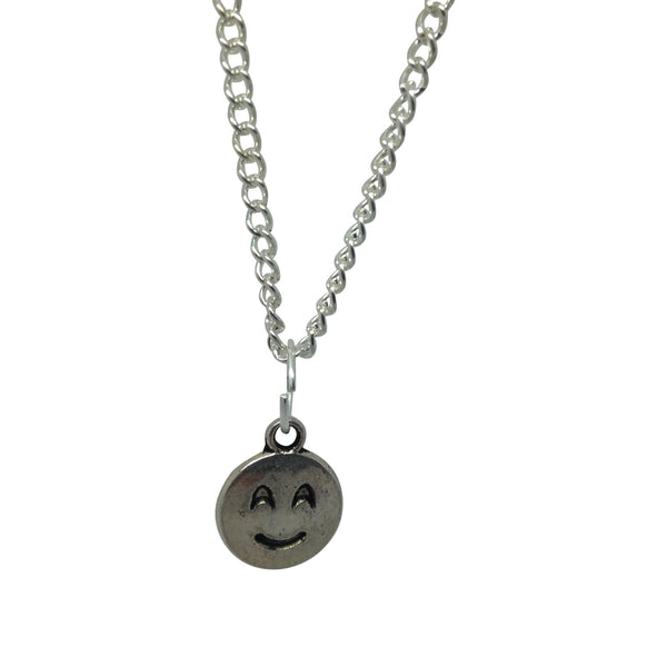 HAPPY CONTENT silver plate emoji necklace from LA LA LAND