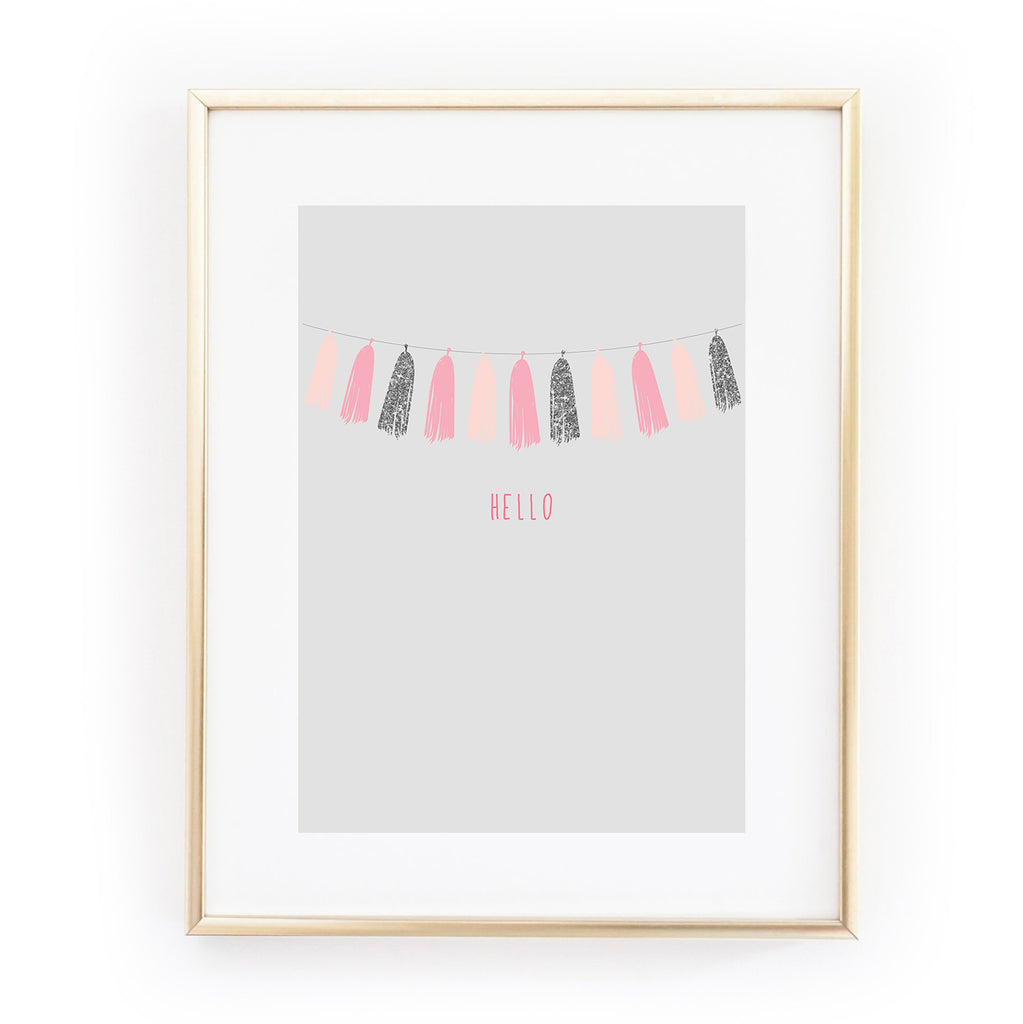HELLO GARLAND ART PRINT