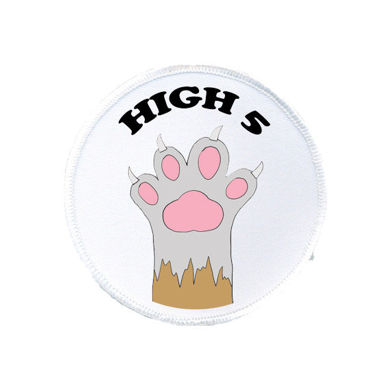 HI FIVE 5 cat kitten paw printed patch from LA LA LAND
