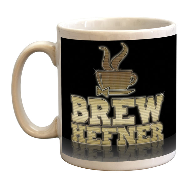HUGH HEFNER PLAYBOY parody pun funny mug from LA LA LAND