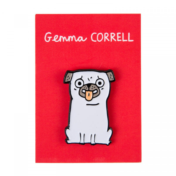 I LICK YOU pug puppy dog ENAMEL PIN by Gemma Correll from LA LA LAND