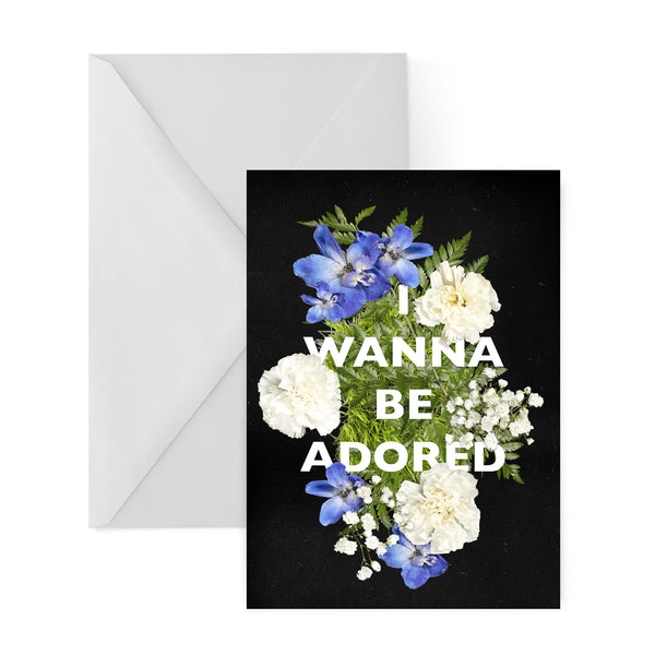 I WANNA BE ADORED stone roses INDIE MADCHESTER manchester IAN BROWN baggy GREETINGS CARD from LA LA LAND
