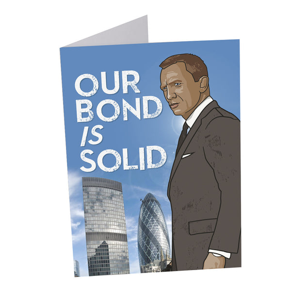JAMES BOND 007 DANIEL CRAIG greetings card from LA LA LAND