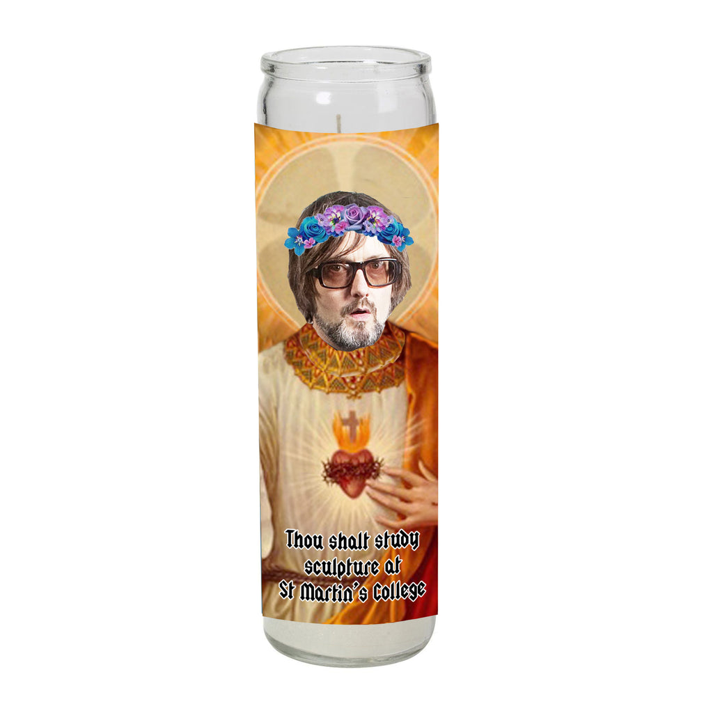 JARVIS COCKER pulp COMMON PEOPLE saint martin's college prayer candle SAINT religious celebrity from LA LA LAND