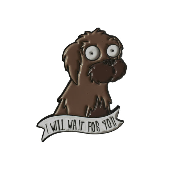 I WILL WAIT FOR YOU Enamel Pin (SECONDS)