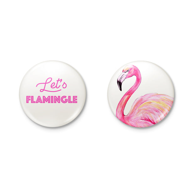 LET'S FLAMINGLE flamingo badge set from LA LA LAND
