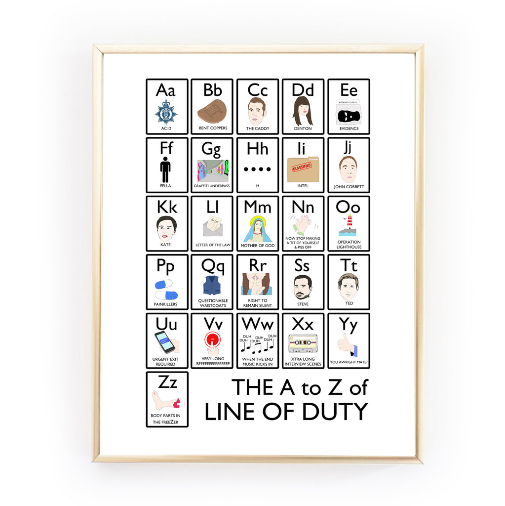 THE A TO Z OF LINE OF DUTY Art Print