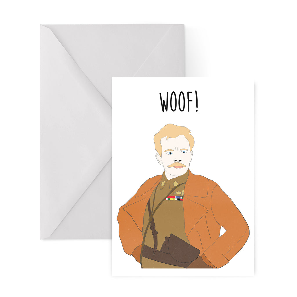 LORD FLASHHEART blackadder woof GREETINGS CARD