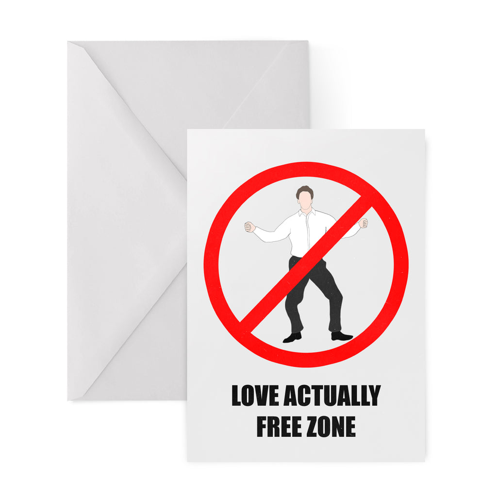 LOVE ACTUALLY FREE ZONE Christmas Card