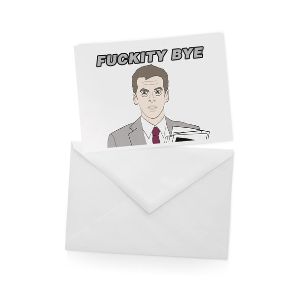 MALCOLM TUCKER thick of it FUCKITY BYE greetings card from LA LA LAND