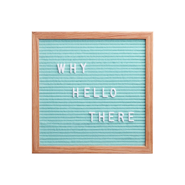 MINT GREEN pastel FELT LETTER PEG BOARD cafe sign from LA LA LAND 2