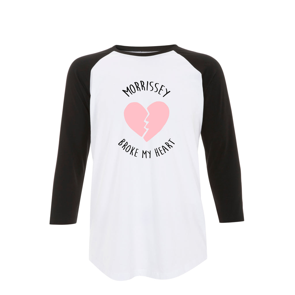 MORRISSEY BROKE MY HEART raglan tee top from LA LA LAND