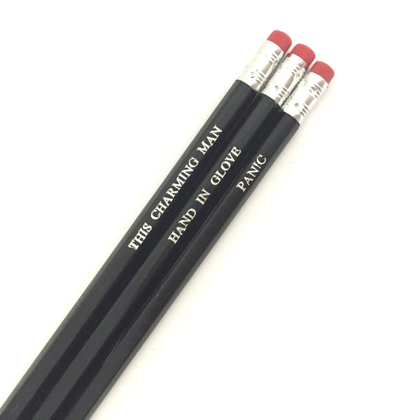 The Smiths Hand Stamped Slogan POPCULT Pencil Set from LA LA LAND
