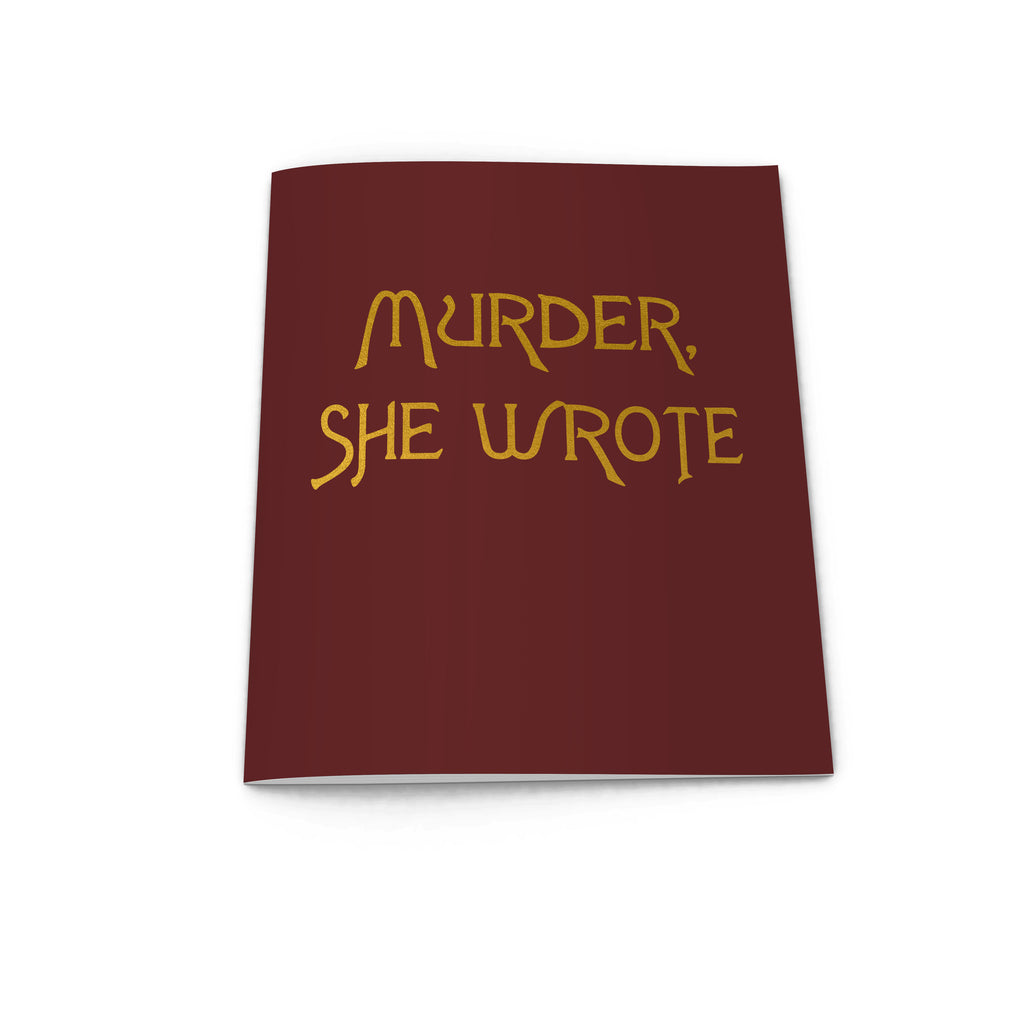 MURDER SHE WROTE notebook from LA LA LAND