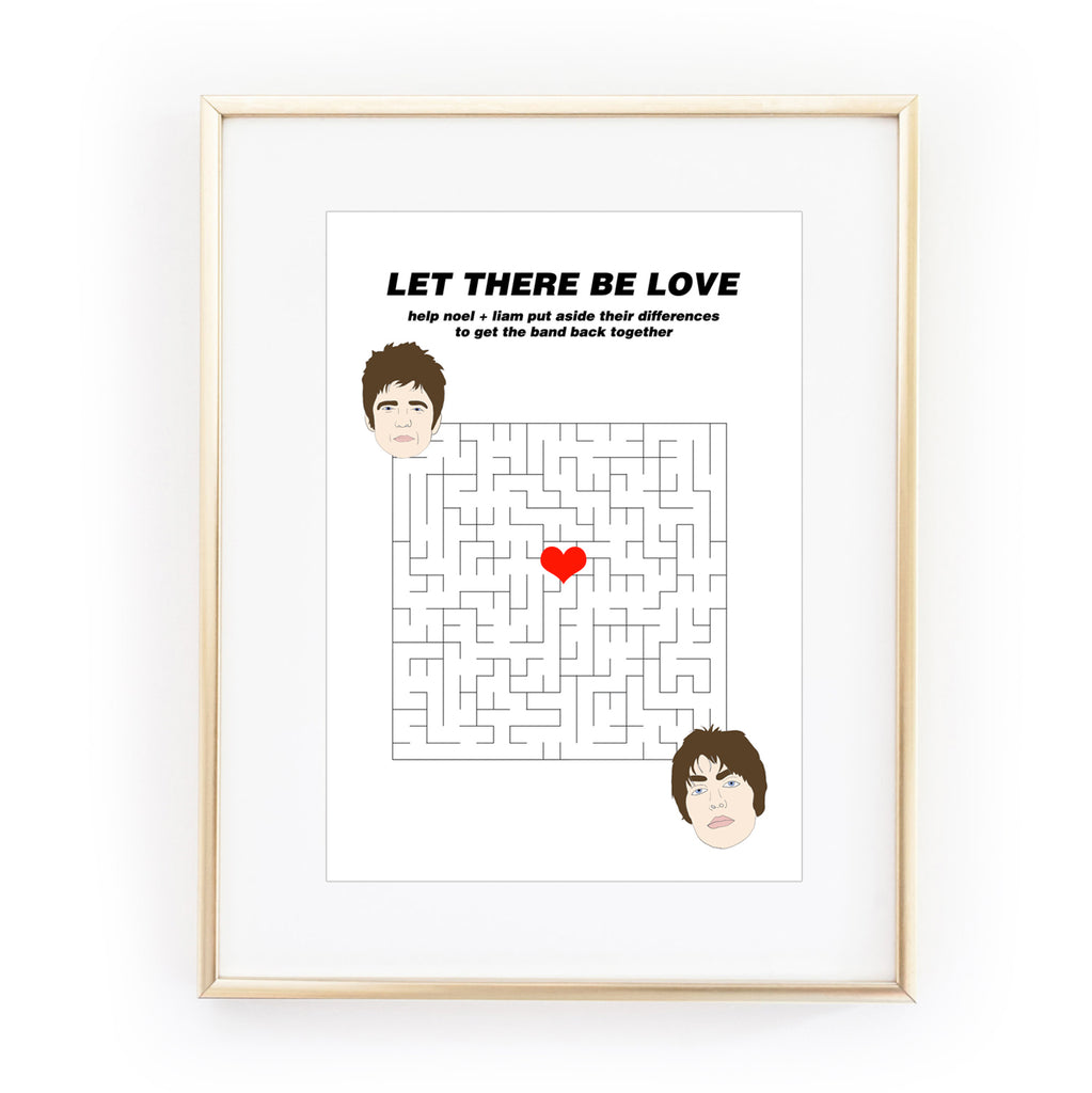 LET THERE BE LOVE ART PRINT