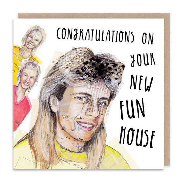 PAT SHARP funhouse THE TWINS cbbc citv kids tv retro greetings card by Angie Beal from LA LA LAND