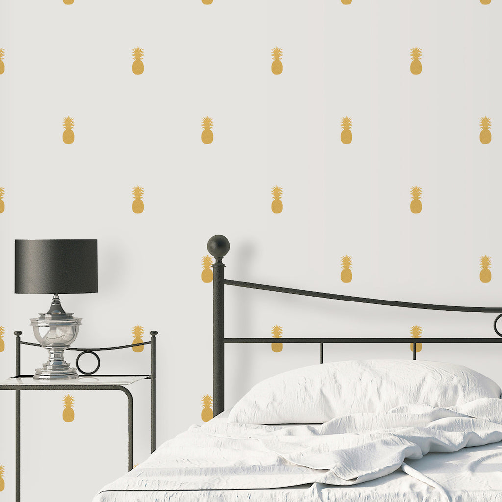 GOLDEN PINEAPPLES Wall Decals ...