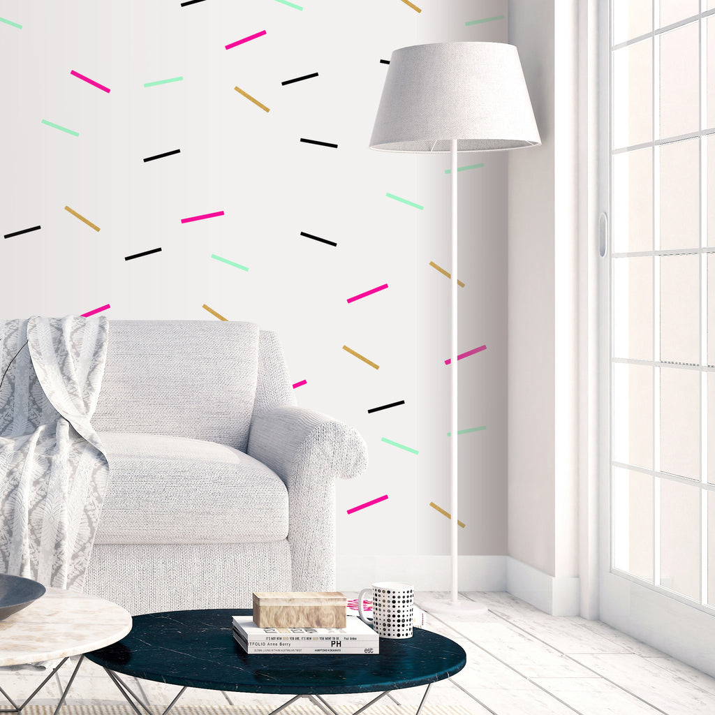 PINK BLACK GREEN GOLD SPRINKLES WALL DECALS by LA LA LAND ...  sc 1 st  La La Land & SPRINKLES Wall Decals | LA LA LAND