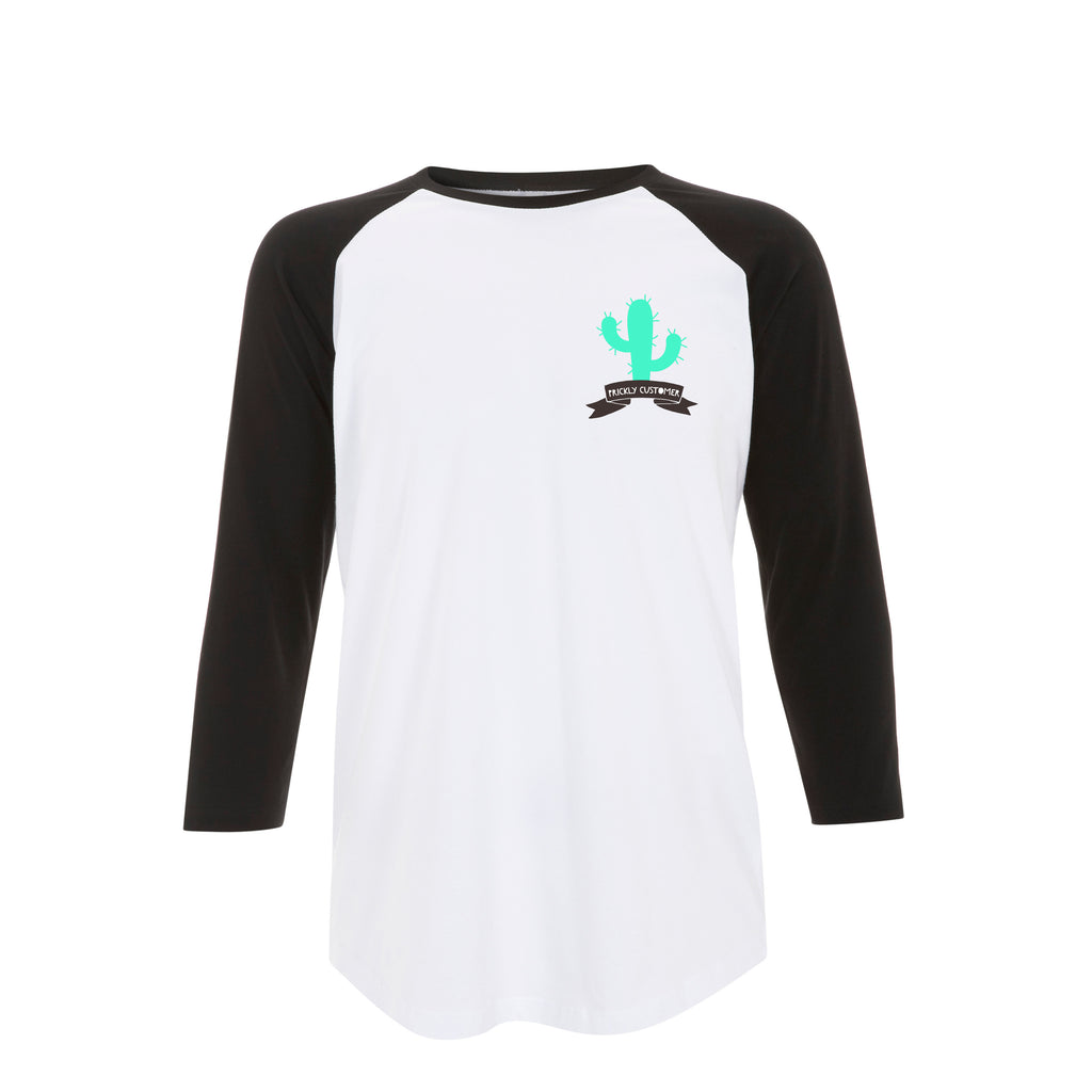 PRICKLY CUSTOMER cactus raglan tee from LA LA LAND