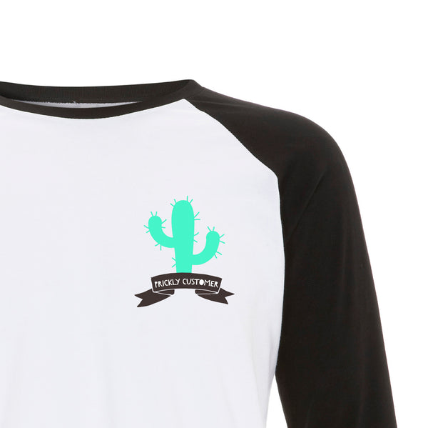 PRICKLY CUSTOMER Raglan Baseball Tee