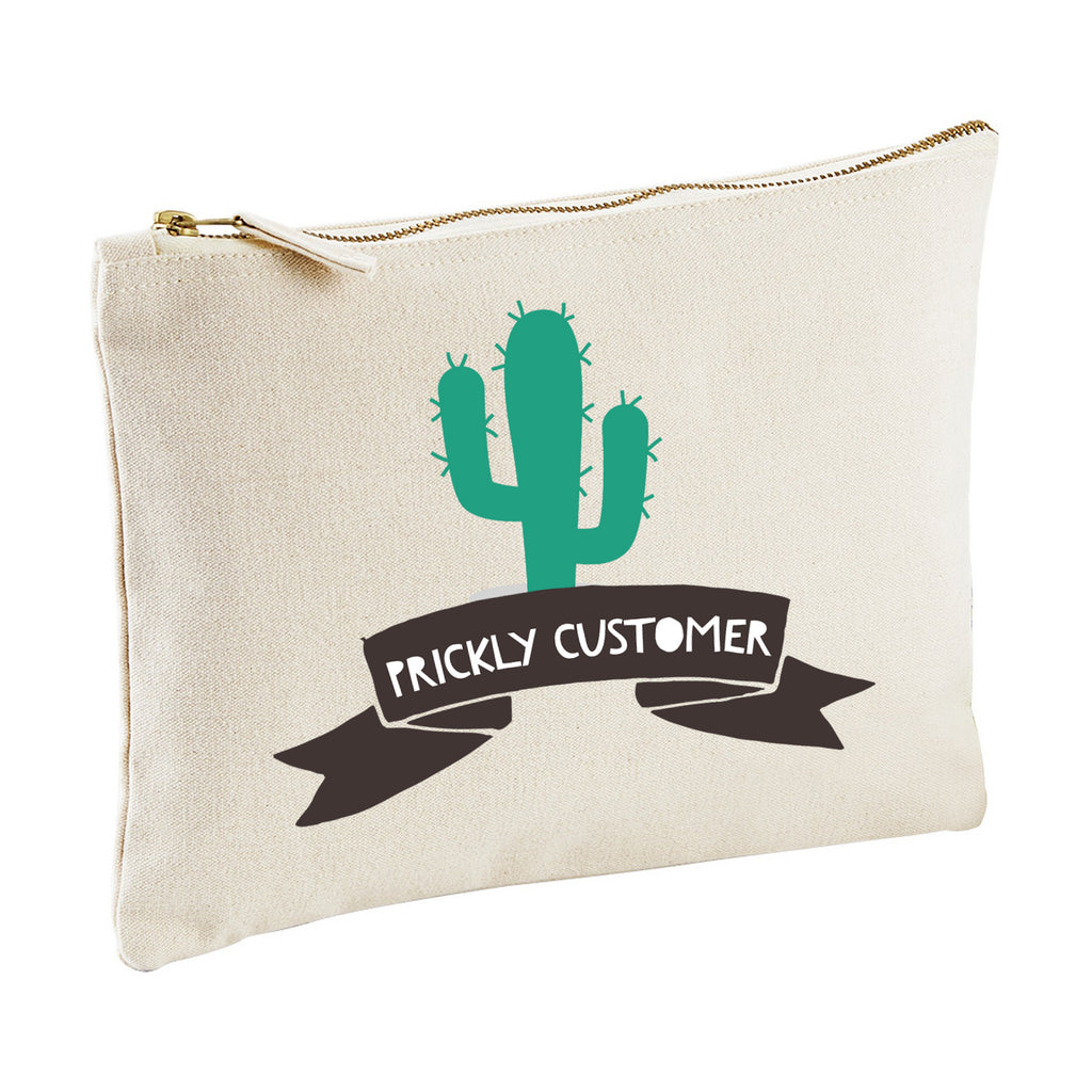 PRICKLY CUSTOMER clutch make up bag pencil case from LA LA LAND