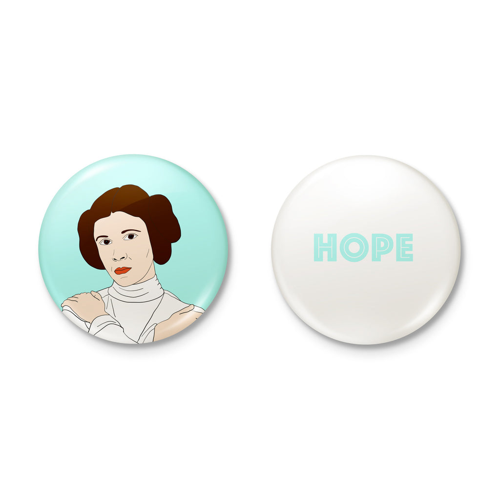 PRINCESS leia STAR WARS hope badge set from LA LA LAND.jpg